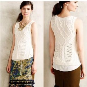 Anthropologie [Moth] Neve knit layered sweater